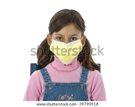 Girl with mask - stock photo