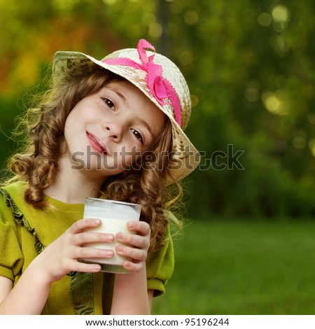 girl with milk glass