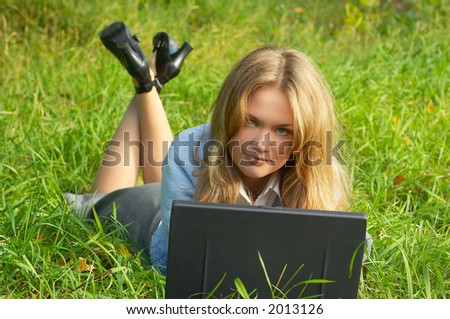 girl with notebook outdoor