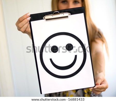 Girl with smile - stock photo