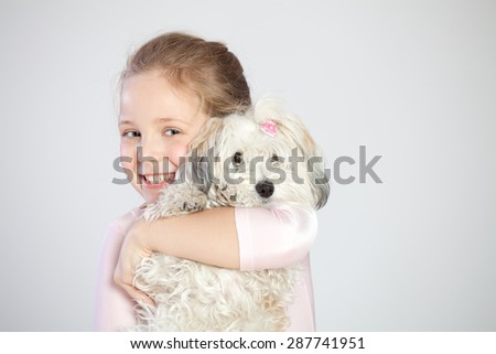 Girl with the dog