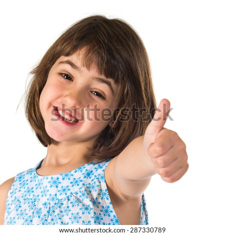 Girl with thumb up