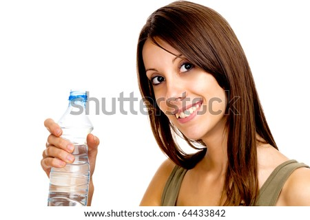 Girl with water bottle