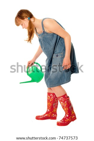 Girl with watering-can