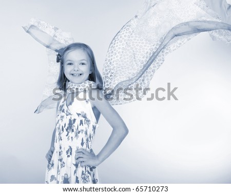 Girl with wings - stock photo