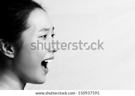 Girl yelling in frustration