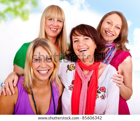 girlfriends having fun together - stock photo