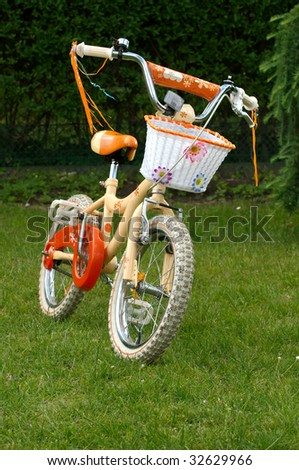 girlish small bicycle - stock photo