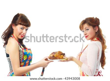 Girls and hot - stock photo