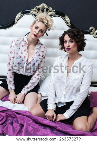 girls bedroom - stock photo