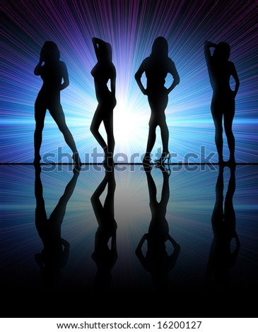 Girls dancing at a club - stock photo