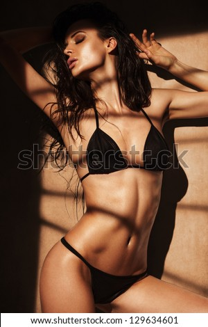 Girls in the shadows - stock photo