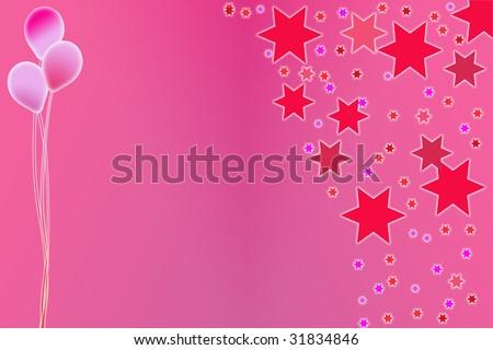 Girls party invitation - stock photo