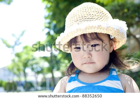 Girls playing in the park - stock photo