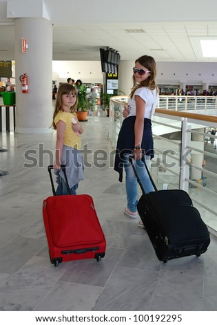 Girls ready for vacation - stock photo