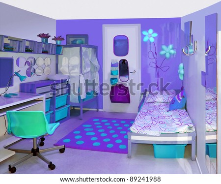 girls room - stock photo