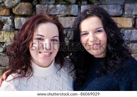 Girls twins - stock photo