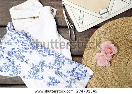 Girly summer outfit  - stock photo