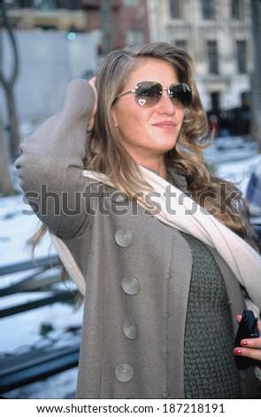 Gisele Bundchen outside of Michael Kors Fashion Show, NY 2/9/2000 - stock photo