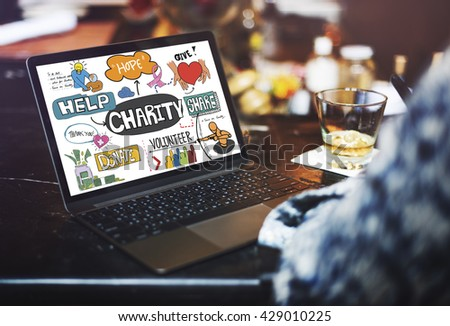Give Charity Donation Graphic Concept - stock photo