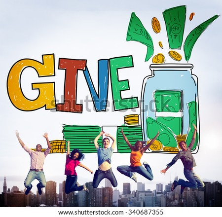 Give Help Donation Charity Volunteer Concept - stock photo
