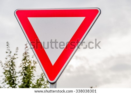 give priority  signal in the leaves - stock photo