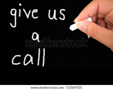 give us a call - stock photo