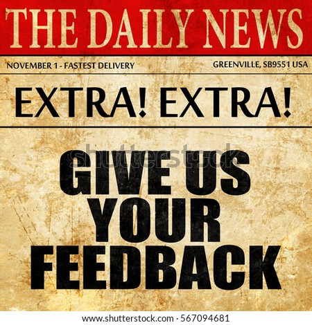 how to give feedback for a scientific article