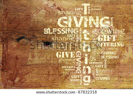 Giving and Tithing Background - stock photo