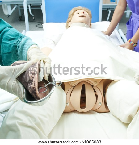 Giving the birth,case study. - stock photo