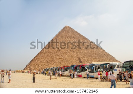 Giza Egypt May Turistas Funny Cartoon Egyptian Pharaoh