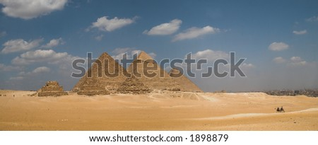 Gizeh Plateau Panorama - stock photo