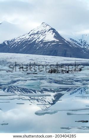 Glacial Lagoon - stock photo