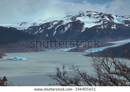Glaciar grey - stock photo