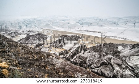 glacier at vatnajokull , iceland - stock photo
