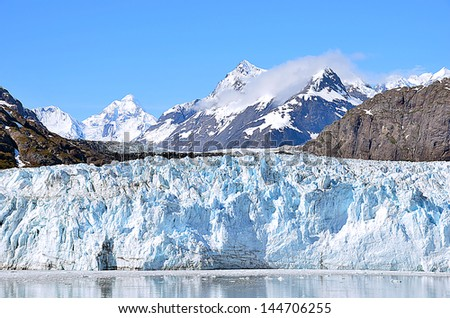 Glacier bay in a sunny day - stock photo