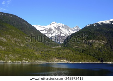 Glacier Bay National Park Alaska view of mountain - stock photo