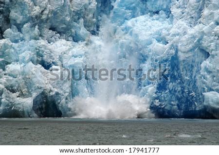 Glacier Calving - stock photo