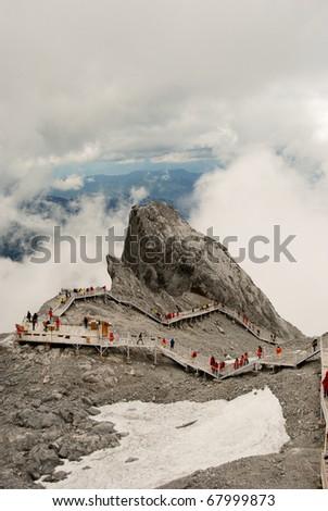 Glacier, China, Ice, Snow - stock photo