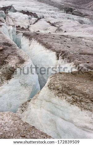 Glacier close-up - stock photo