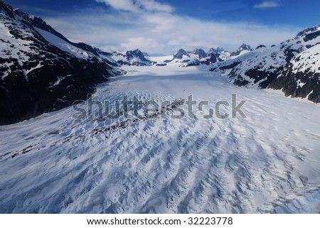 Glacier cracking - stock photo