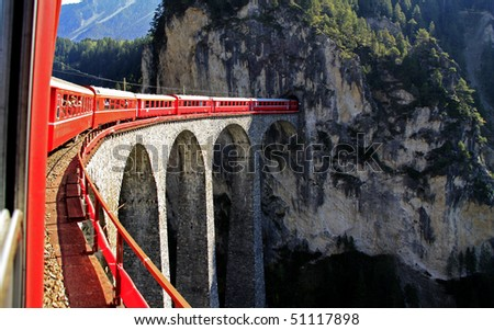 Glacier Express, switzerland - stock photo