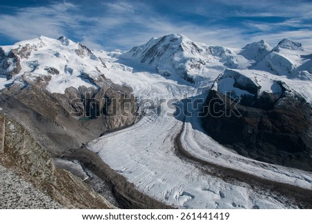 Glacier from Gornergrat - stock photo