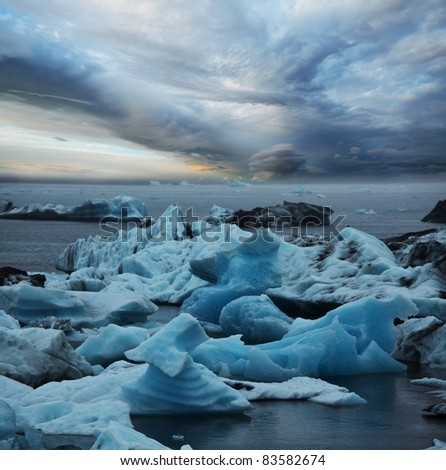 Glacier in Iceland - stock photo