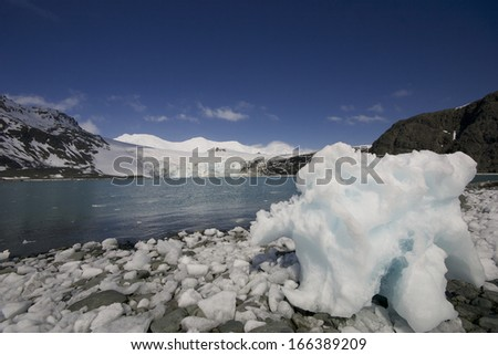 Glacier in Livingston island. Antarctica