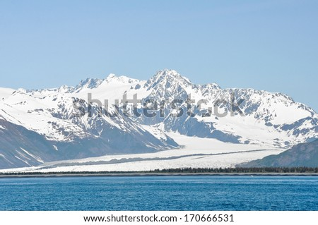 Glacier in Resurrection Bay (Alaska) - stock photo