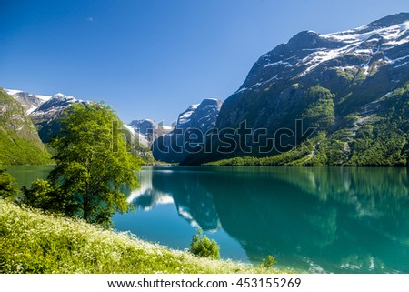 glacier in the mountains of Norway, Brikdalsbreen