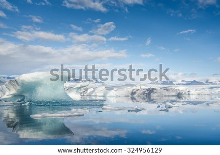 Glacier Lagoon Jokursarlon in Iceland - stock photo