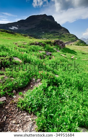 Glacier National Park - stock photo