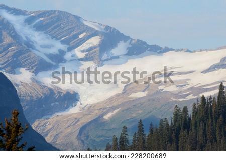 Glacier National Park in summer. - stock photo